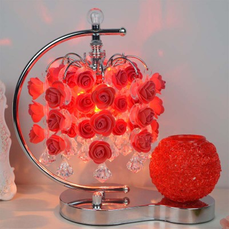 Delicate Romantic Roses Decoration Home Decoration Fragrance Table Lamp