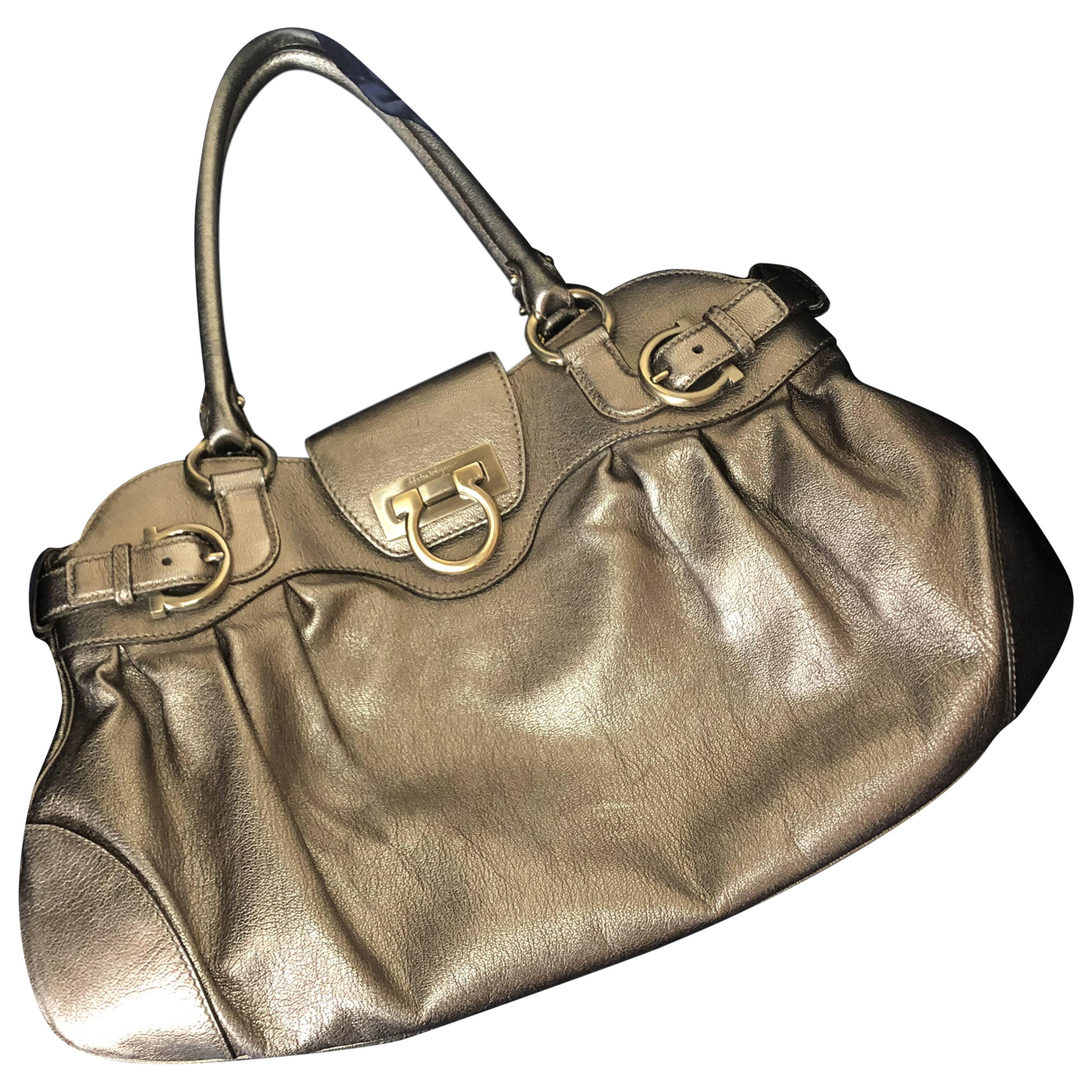 Salvatore Ferragamo \N Metallic Leather handbag for Women \N