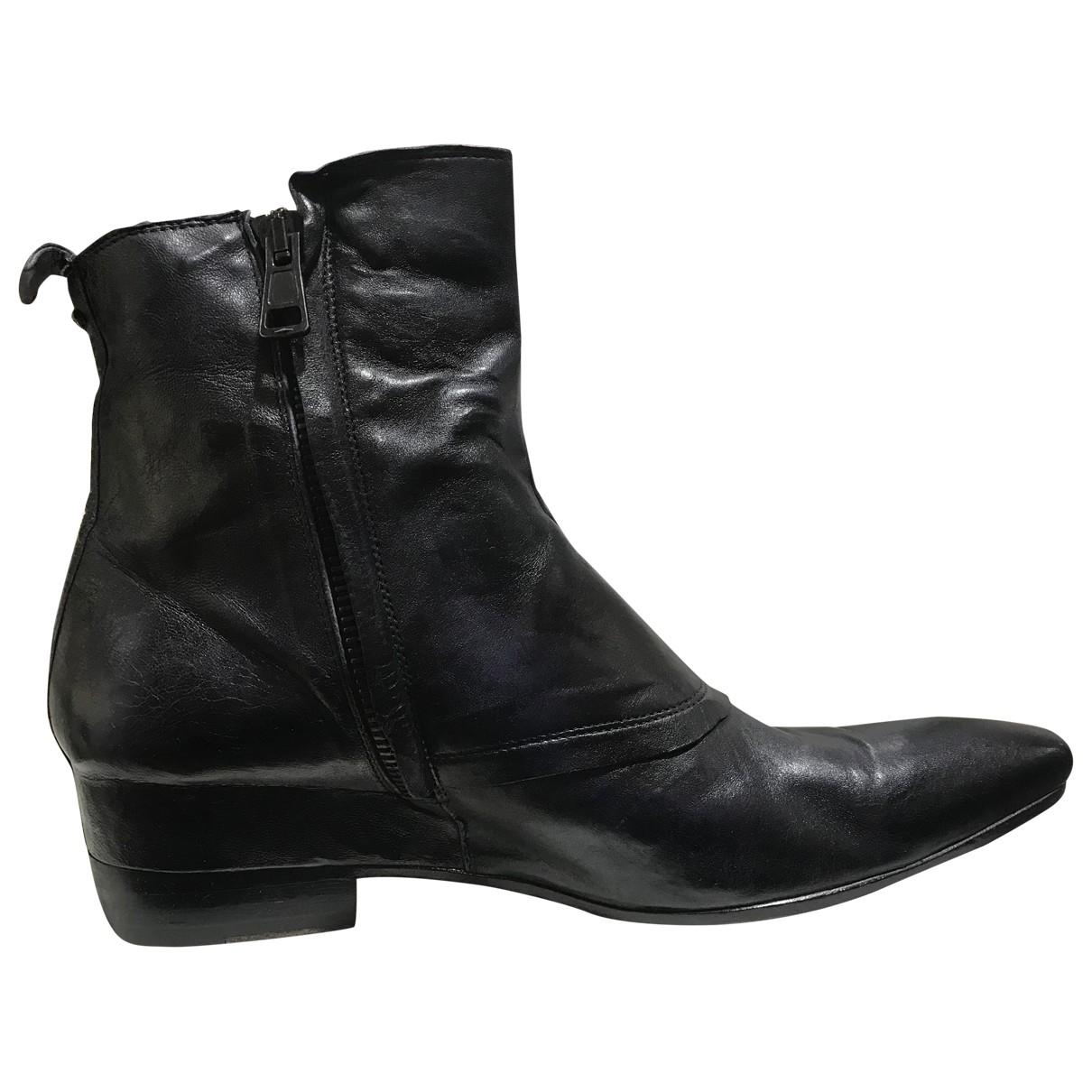 Tom Rebl \N Pink Leather Boots for Men 43 EU