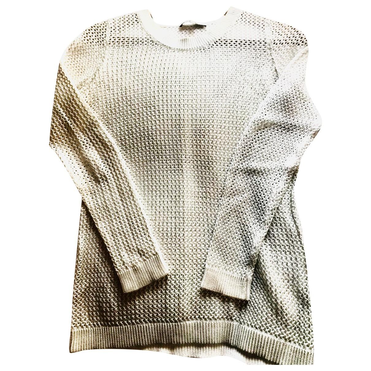 Sandro - Pull   pour femme en coton - metallise
