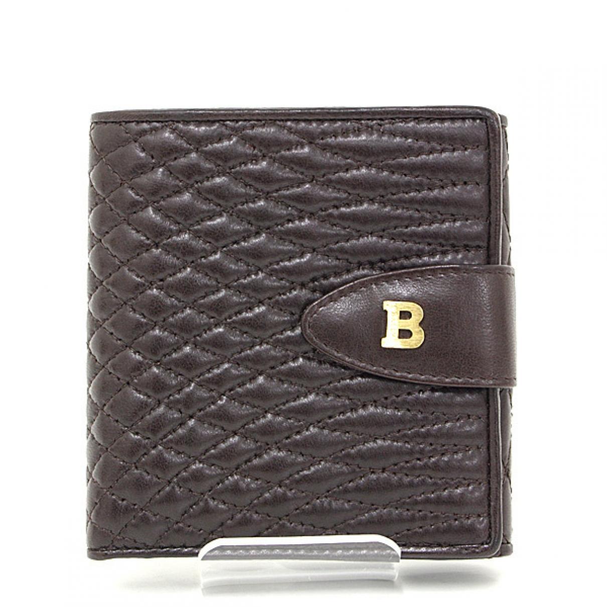 Bally - Portefeuille   pour femme en cuir - marron
