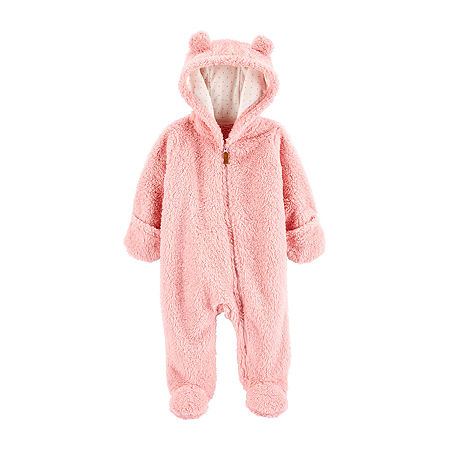 Carter's Baby Girls Long Sleeve Jumpsuit, 6 Months , Pink