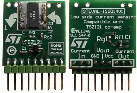 STMicroelectronics STEVAL-ISQ014V1 Evaluation Board for TSZ121 for Low-Side Current Sensing