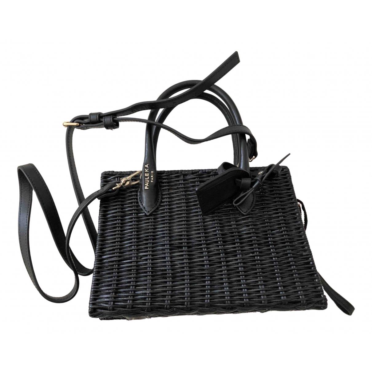 Paule Ka \N Black Leather handbag for Women \N