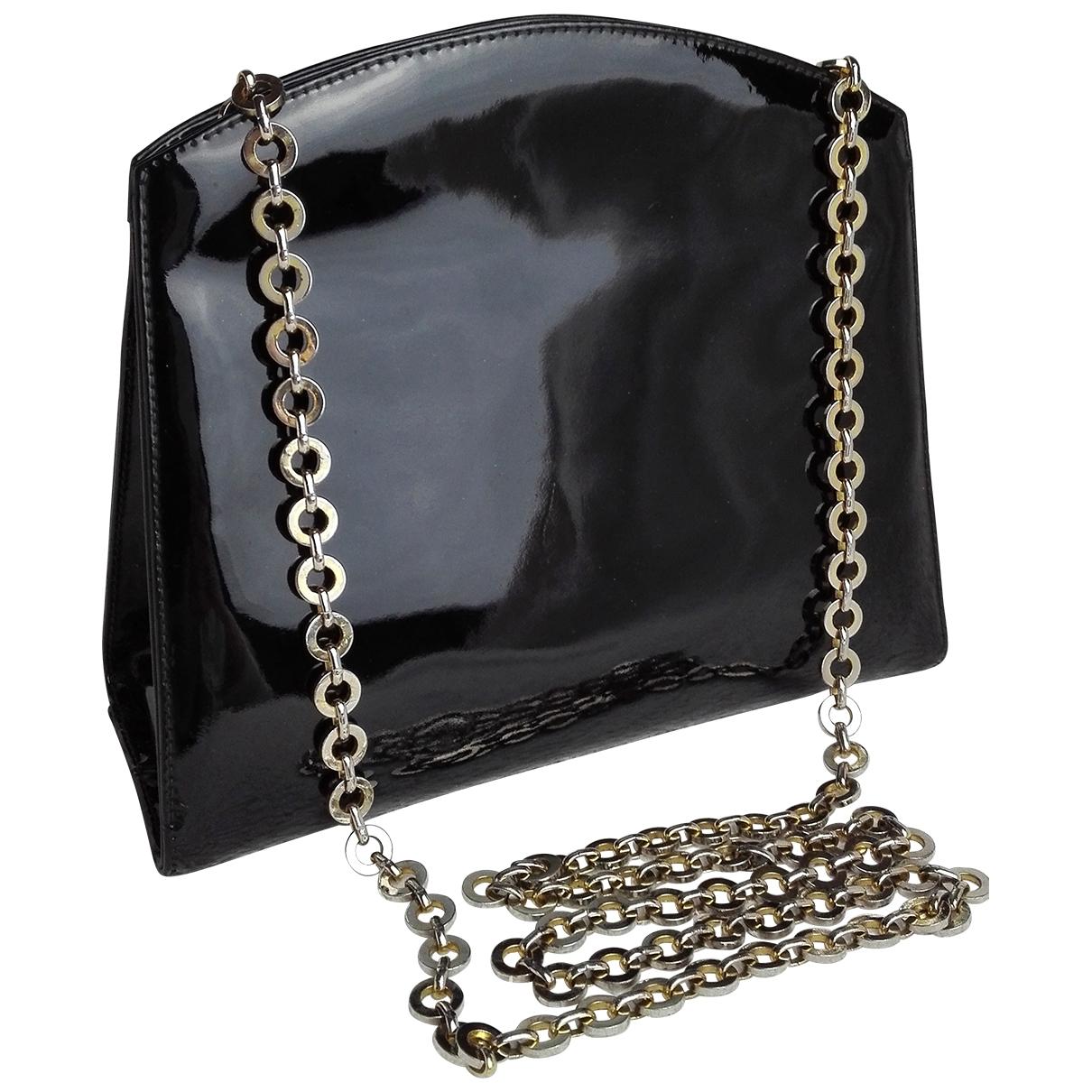 Salvatore Ferragamo \N Handtasche in  Schwarz Lackleder