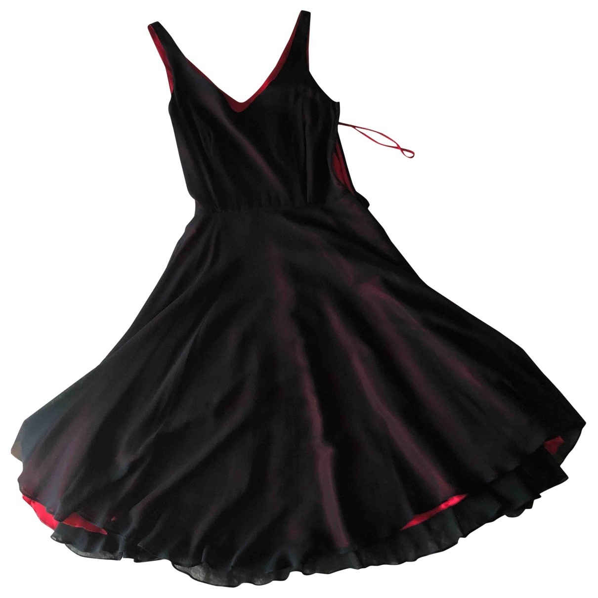 Hobbs \N Kleid in  Schwarz Seide