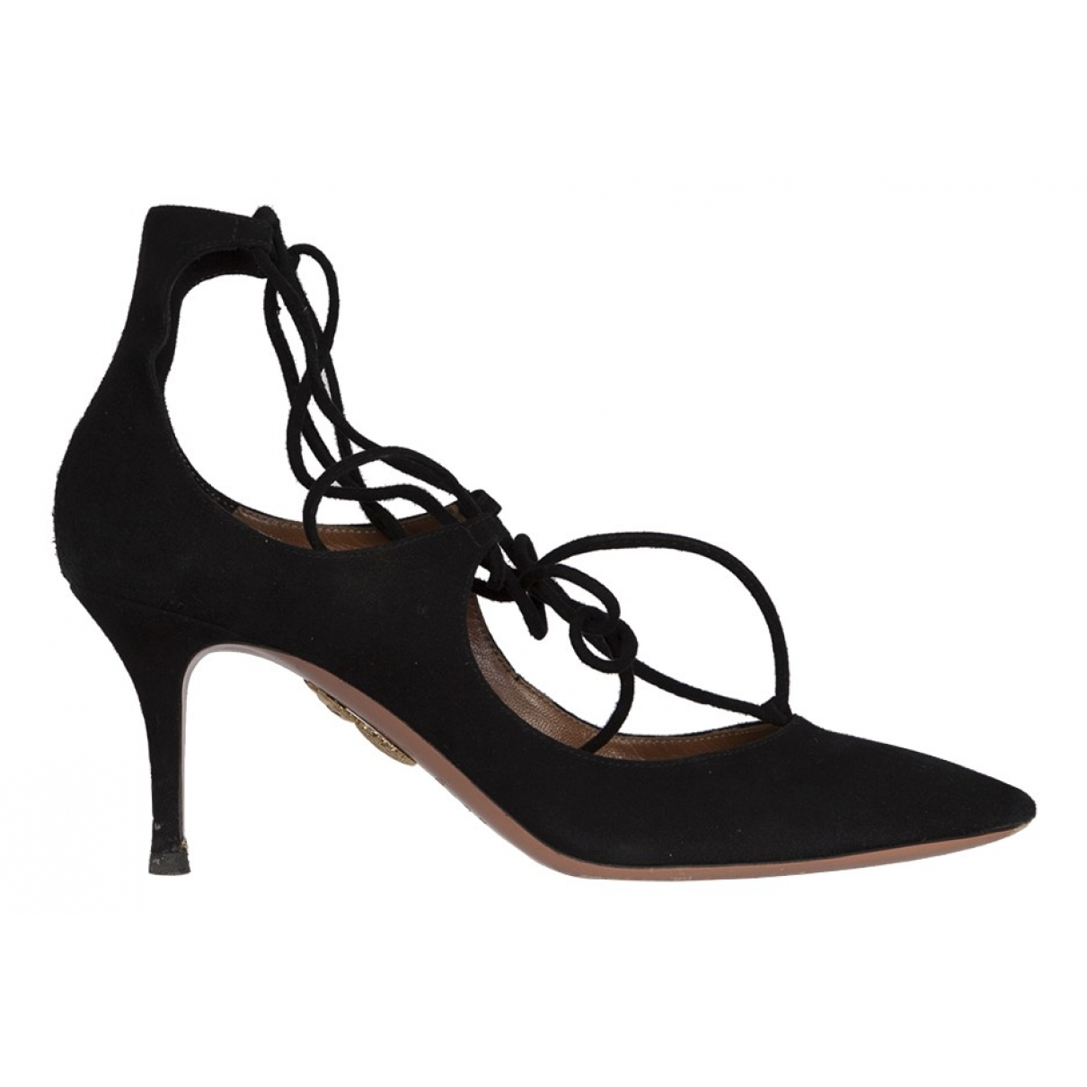 Aquazzura \N Pumps in  Schwarz Veloursleder