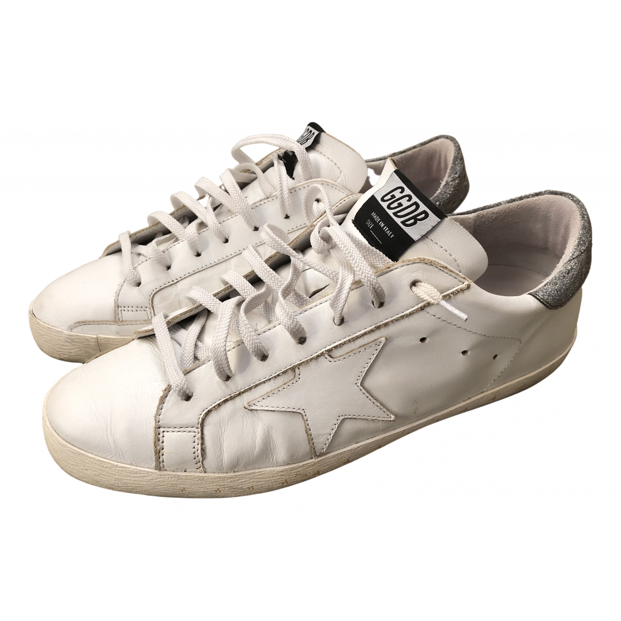 Golden Goose - Baskets Superstar pour homme en cuir - blanc