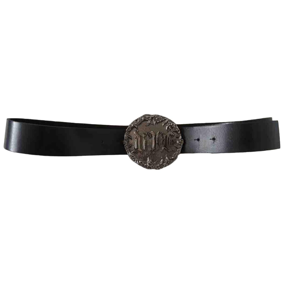 Versace Jeans \N Black Leather belt for Men 95 cm