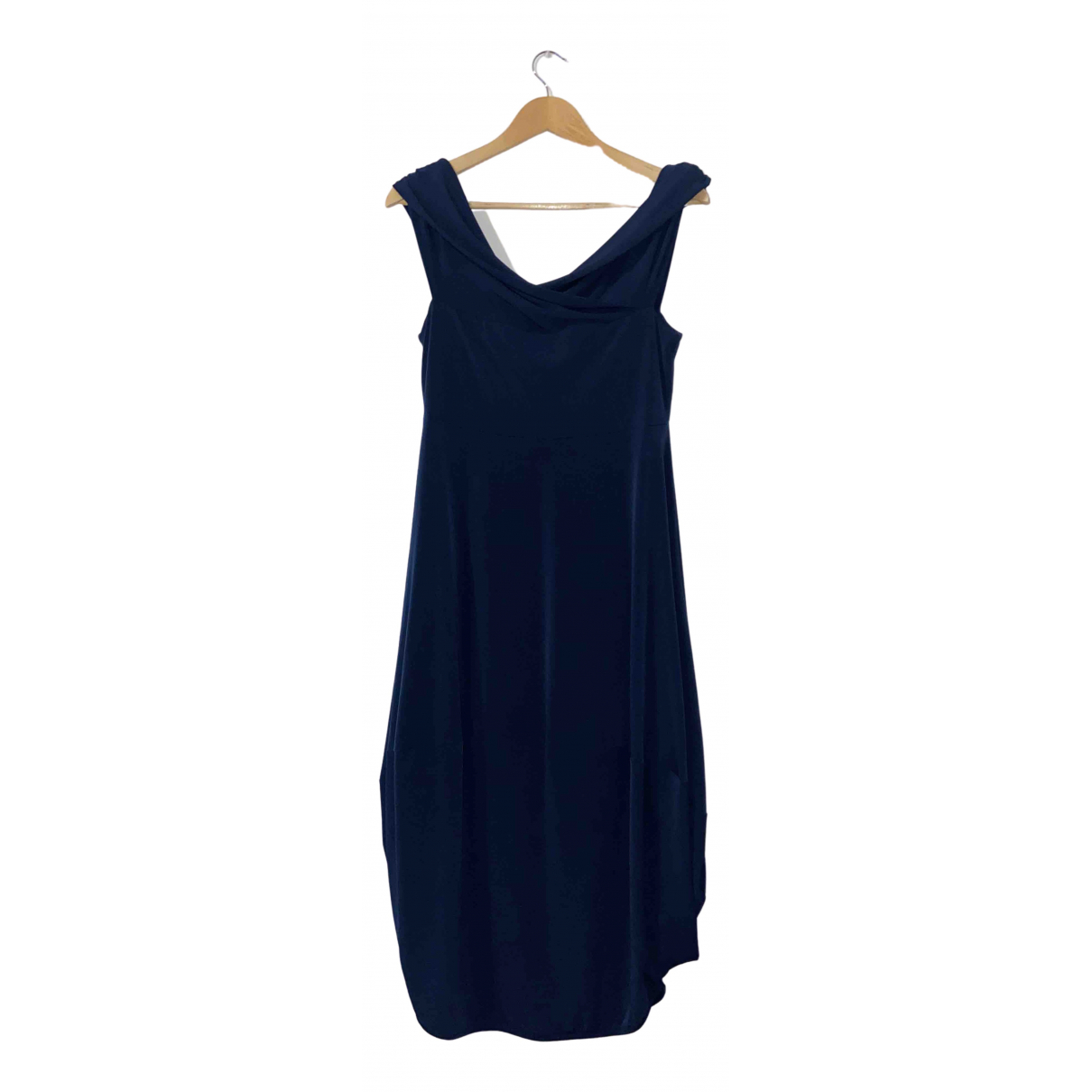 Non Signé / Unsigned N Blue dress for Women XL International