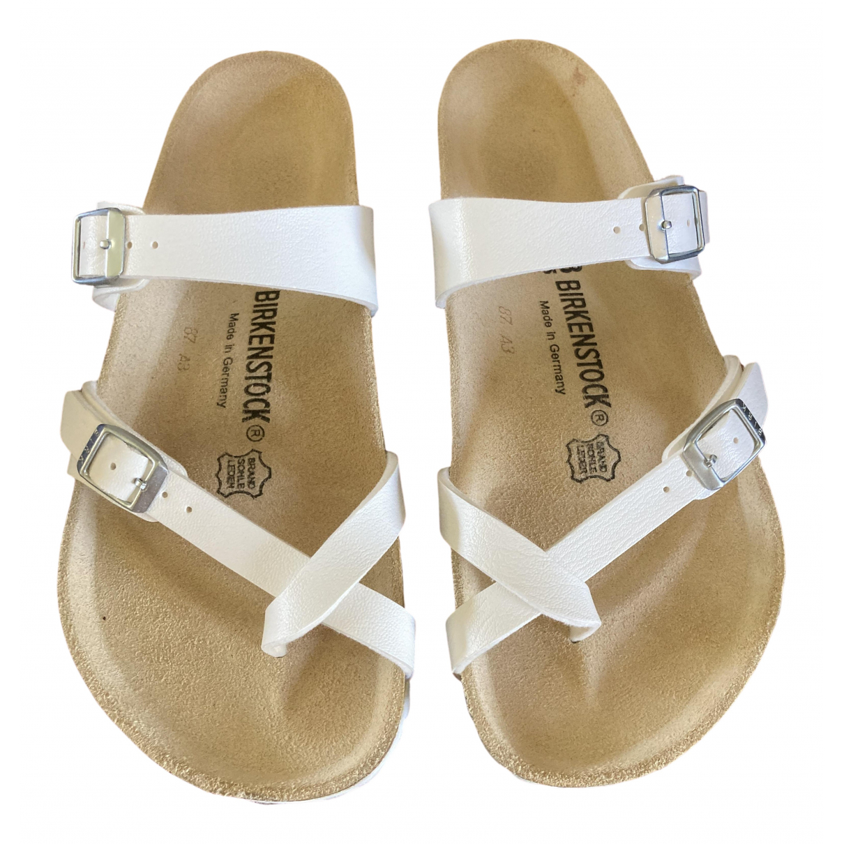 Birkenstock \N White Leather Sandals for Women 38 EU