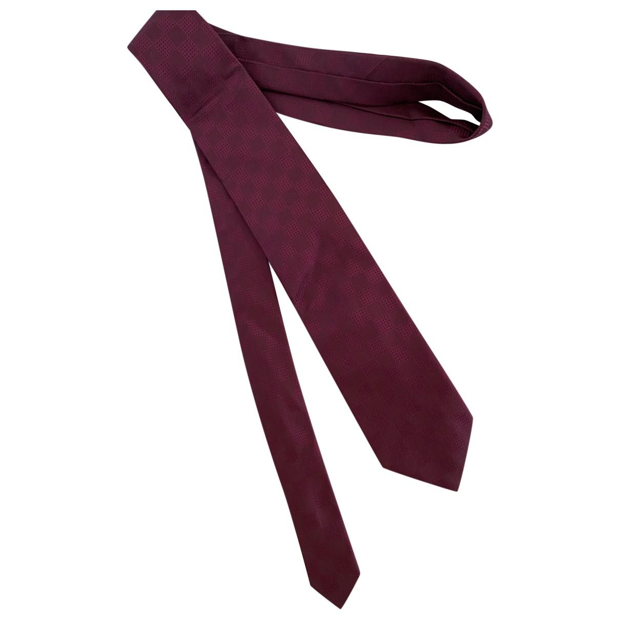 Hugo Boss N Burgundy Silk Ties for Men N