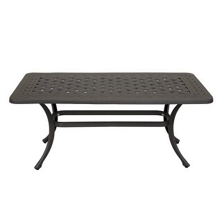 Santa Teresa Cast Aluminum Outdoor Rectangle Coffee Table - 8' x 10' (Chocolate Silk)