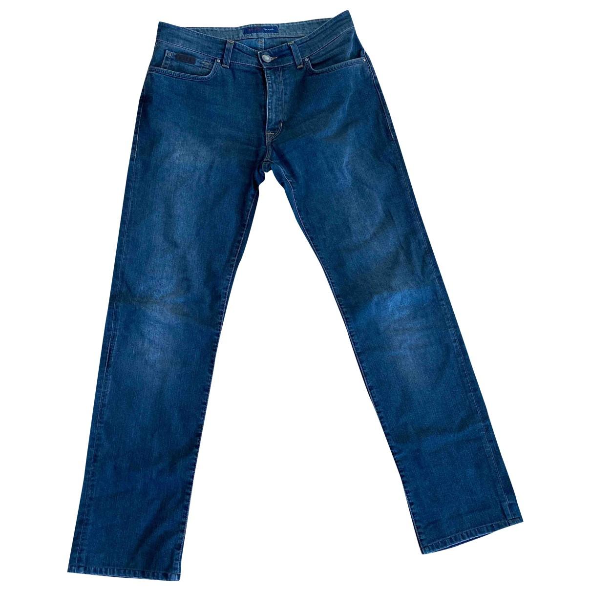 Trussardi Jeans \N Blue Cotton Jeans for Men 34 US