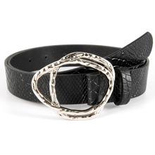 Croc Embossed Textured Buckle Belt