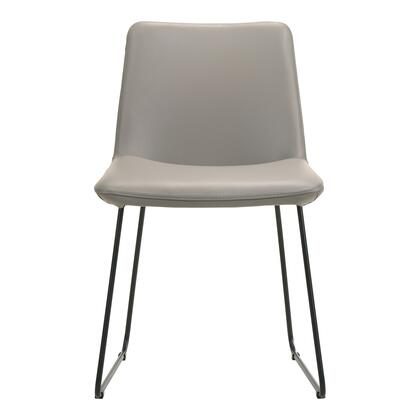 Villa Collection EQ-1010-15 Dining Chair with Metal Frame in Gray