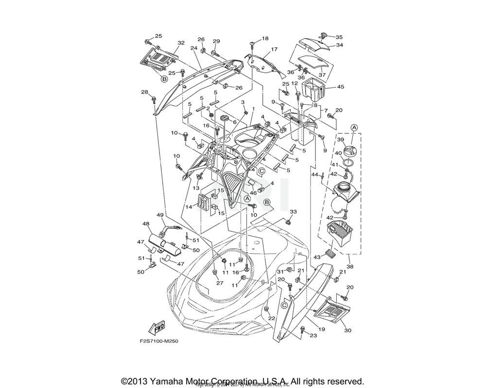 Yamaha OEM F1W-U591D-00-00 PACKING,CASE