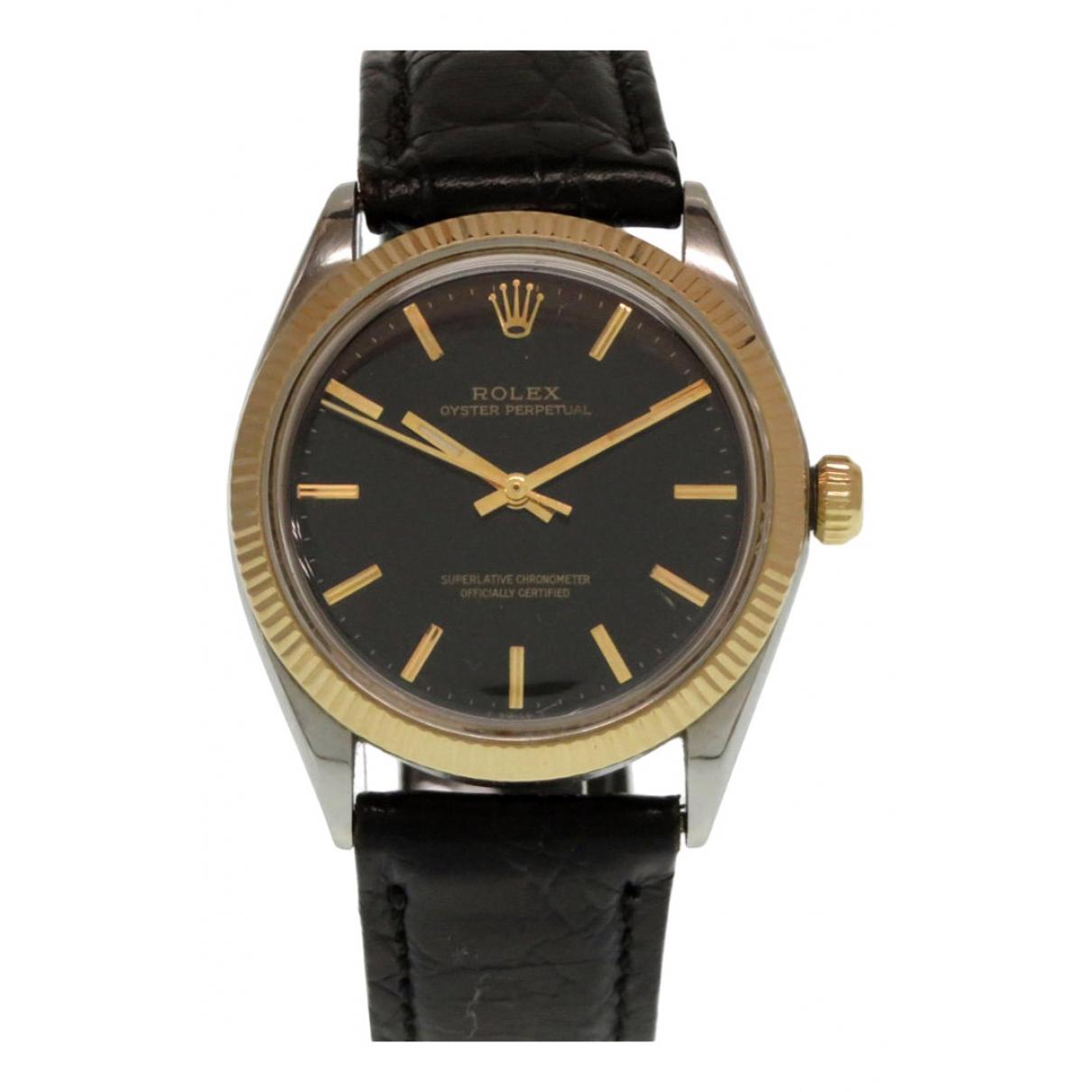 Rolex - Montre Datejust 31mm pour femme en or et acier - noir
