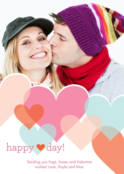 Valentine's Cards Mail-for-Me Premium 5x7 Flat Card, Card & Stationery -Happy Heart Day
