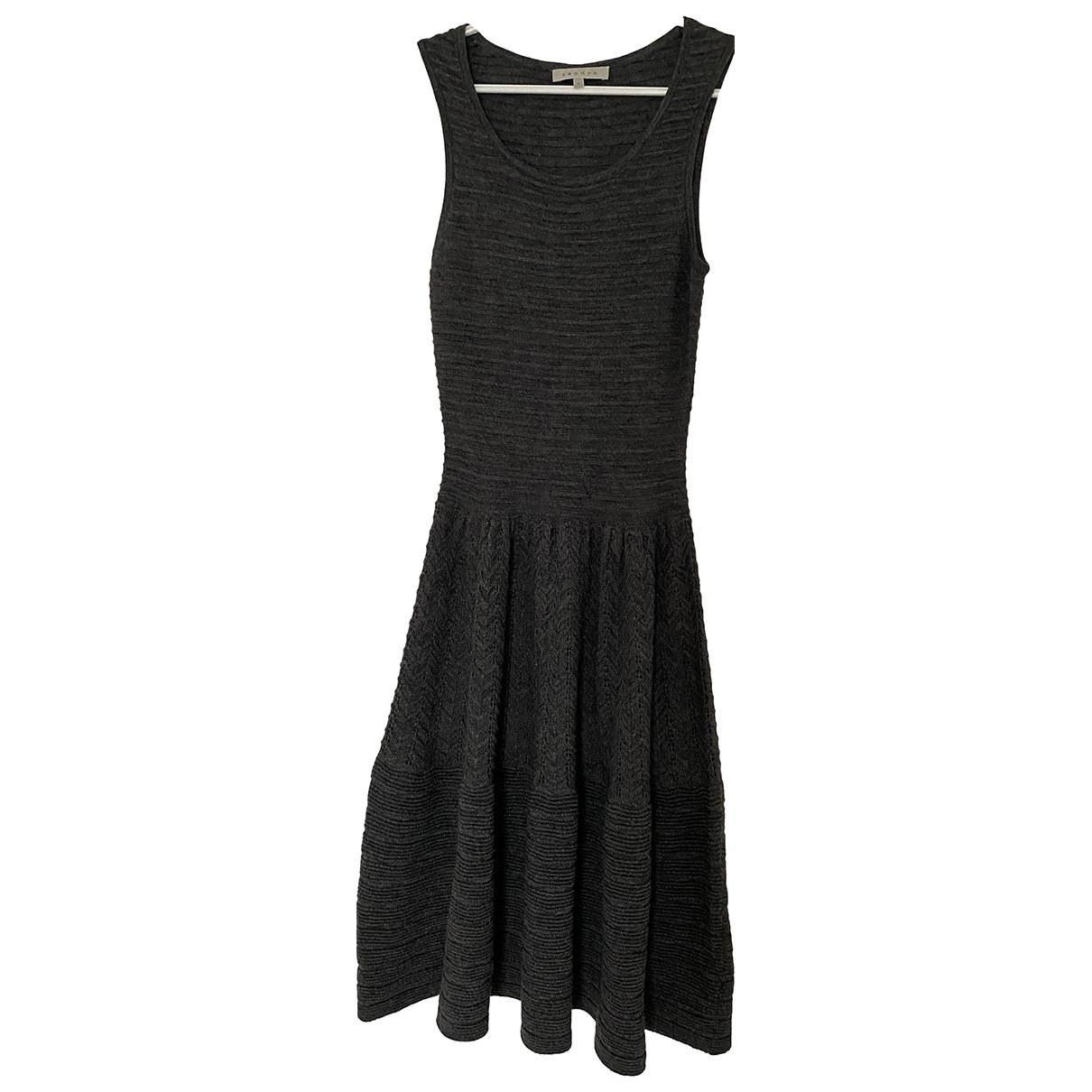 Sandro - Robe   pour femme en laine - gris