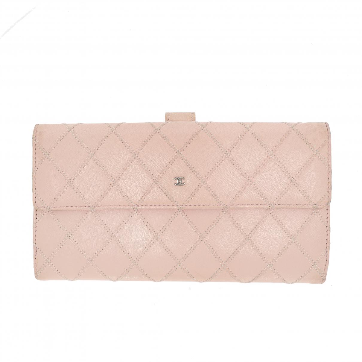 Chanel \N Portemonnaie in  Rosa Leder
