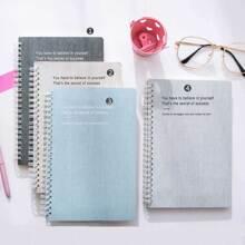 Cuaderno espiral de cubierta grafica con letra simple 1 paquete