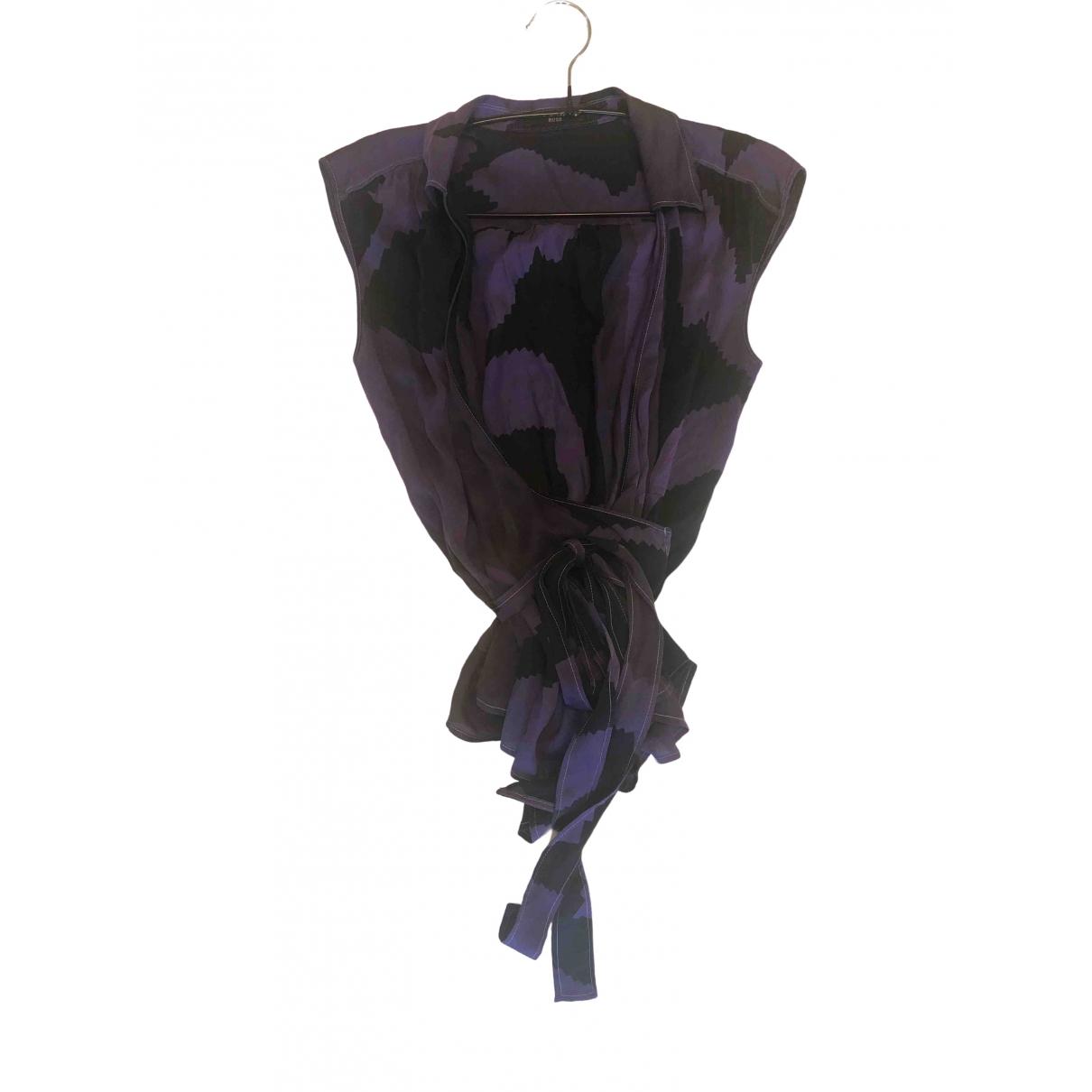Boss - Top   pour femme en soie - multicolore