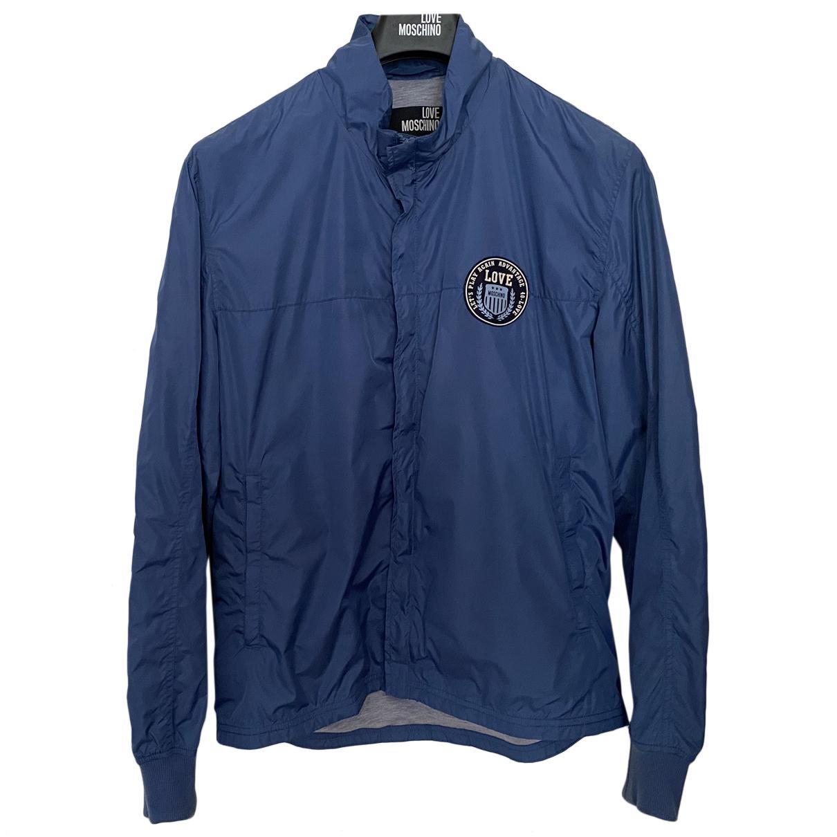 Moschino Love \N Jacke in  Blau Polyester