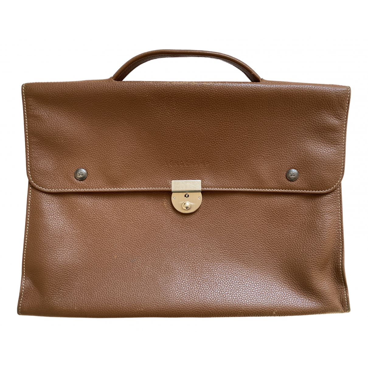 Longchamp \N Brown Leather Small bag, wallet & cases for Men \N
