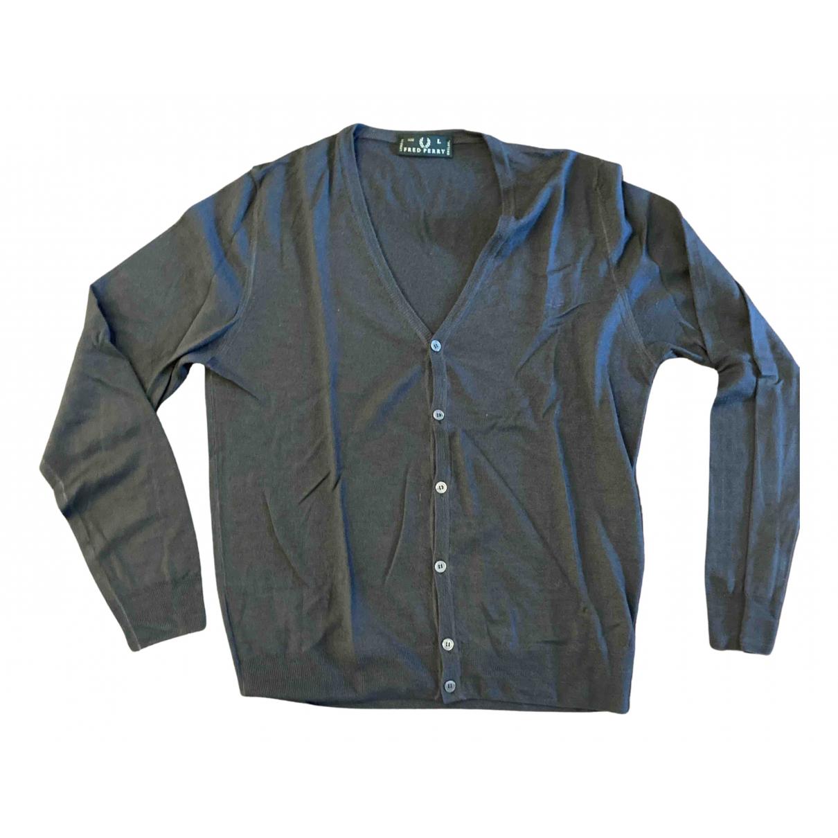 Fred Perry \N Pullover.Westen.Sweatshirts  in  Anthrazit Baumwolle