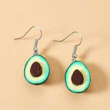 Avocado Charm Drop Earrings