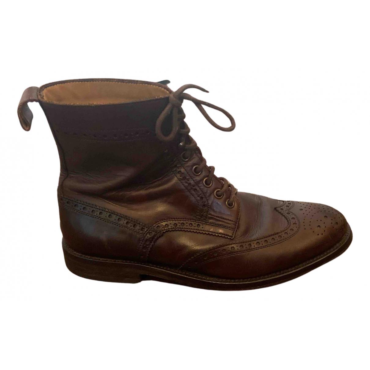 Cerruti \N Stiefel in  Braun Leder