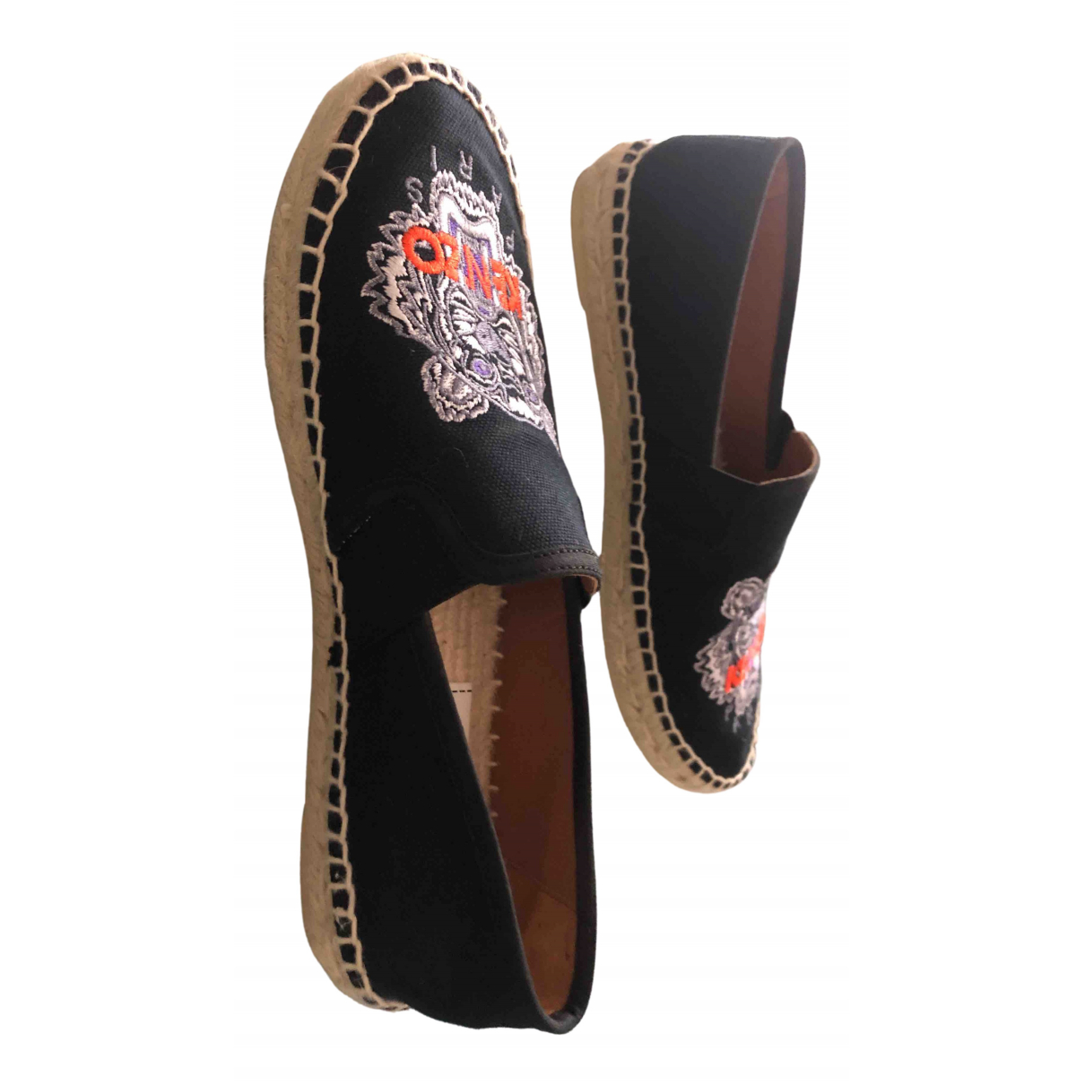 Kenzo \N Navy Cloth Espadrilles for Women 36 IT