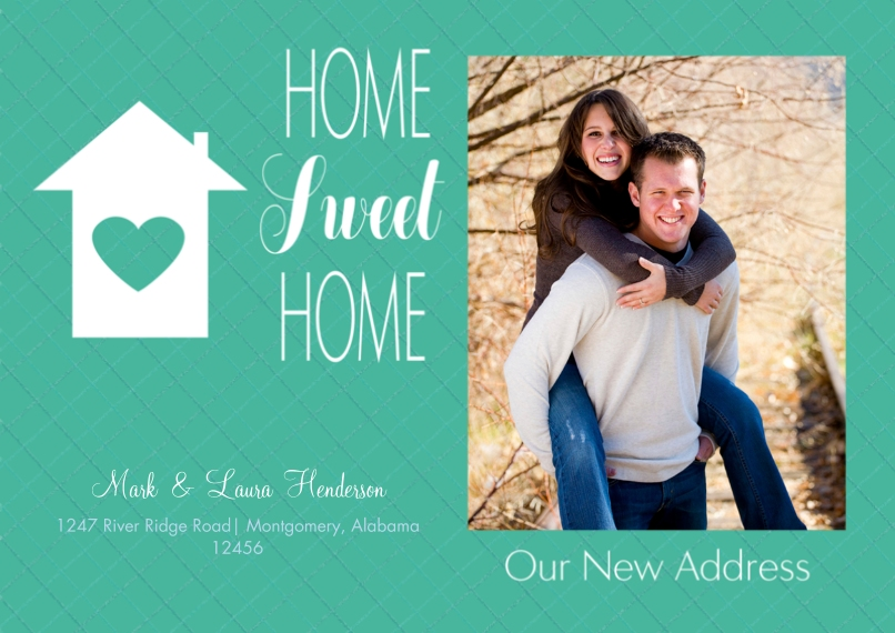 Moving Flat Matte Photo Paper Cards with Envelopes, 5x7, Card & Stationery -Home Sweet Home