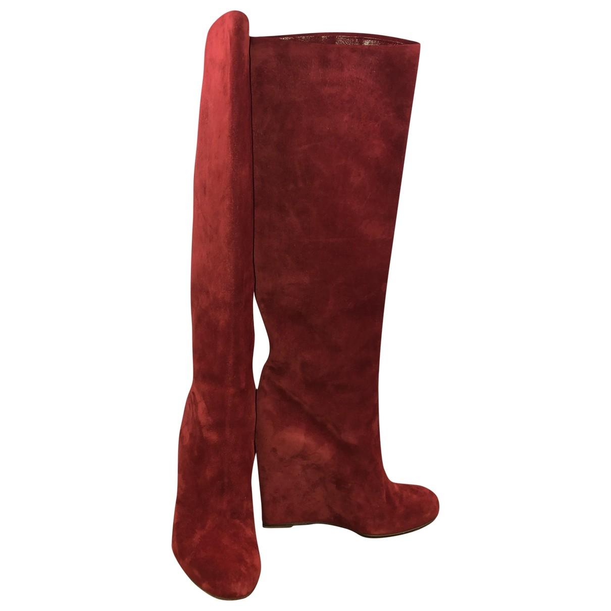 Christian Louboutin \N Red Suede Boots for Women 40 EU