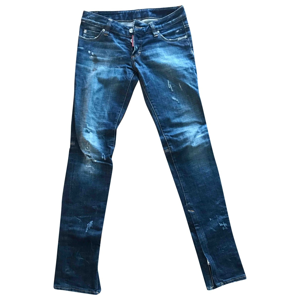 Dsquared2 \N Blue Denim - Jeans Jeans for Women 38 FR