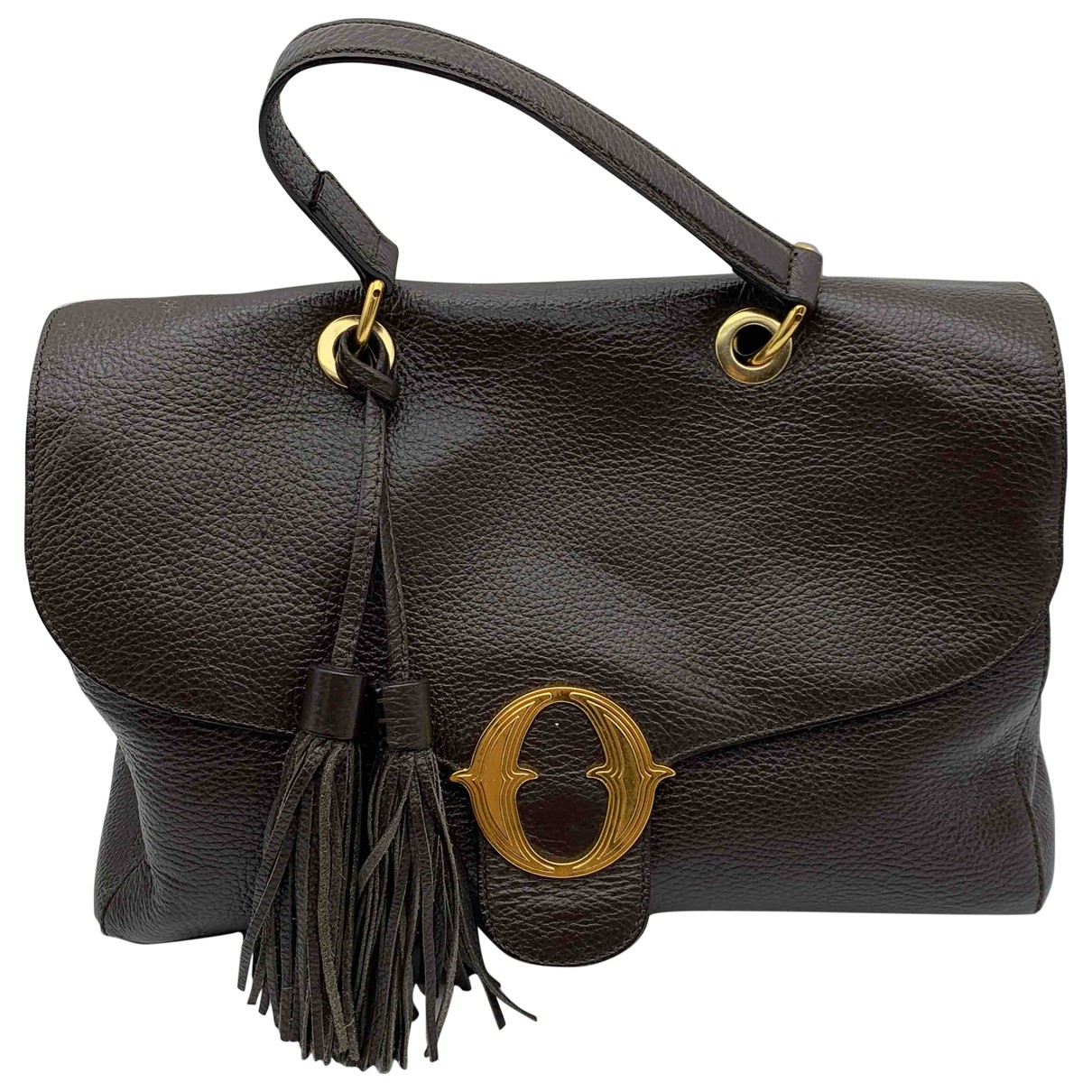 Ottod'ame N Brown Leather handbag for Women N
