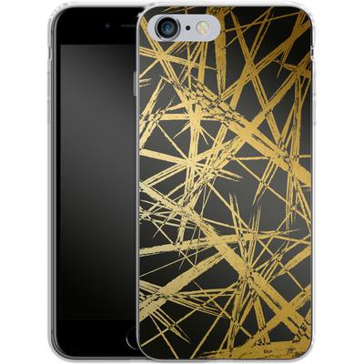 Apple iPhone 6s Plus Silikon Handyhuelle - Strokes Gold Black von Khristian Howell