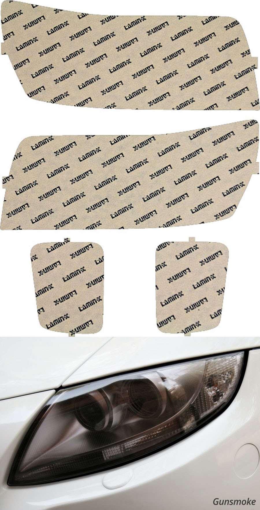 Infiniti QX56 04-10 Gunsmoke Headlight Covers Lamin-X I003G