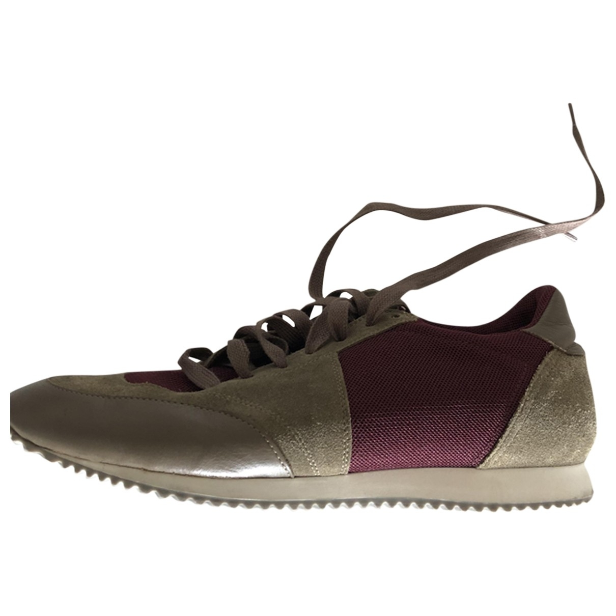 Faconnable \N Khaki Cloth Trainers for Men 41 EU