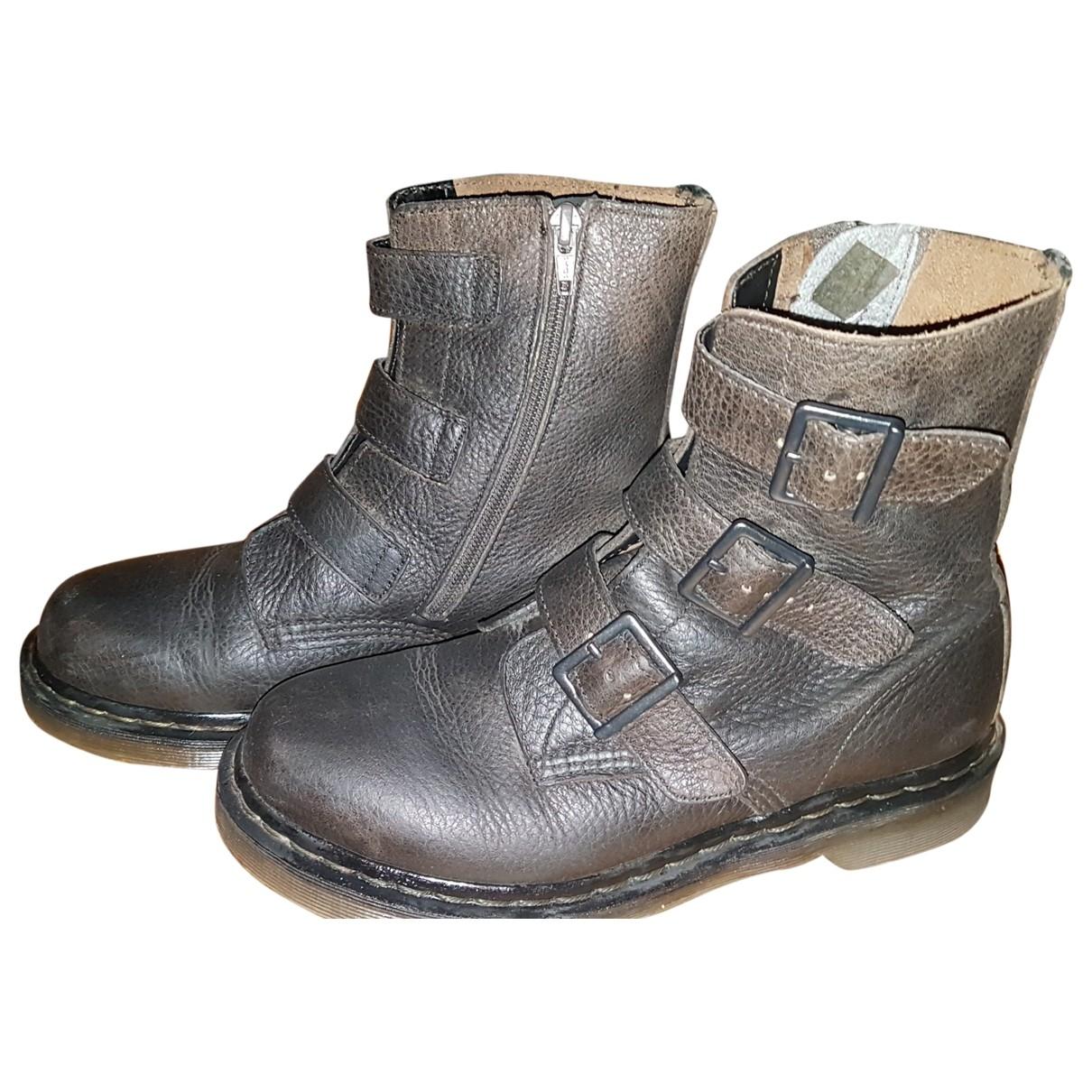 Dr. Martens - Boots Chelsea pour femme en cuir - marron