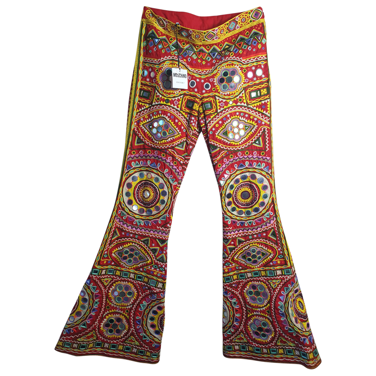 Moschino \N Multicolour Cotton Trousers for Women 42 IT
