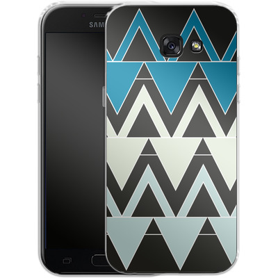 Samsung Galaxy A5 (2017) Silikon Handyhuelle - Blue Triangles von caseable Designs