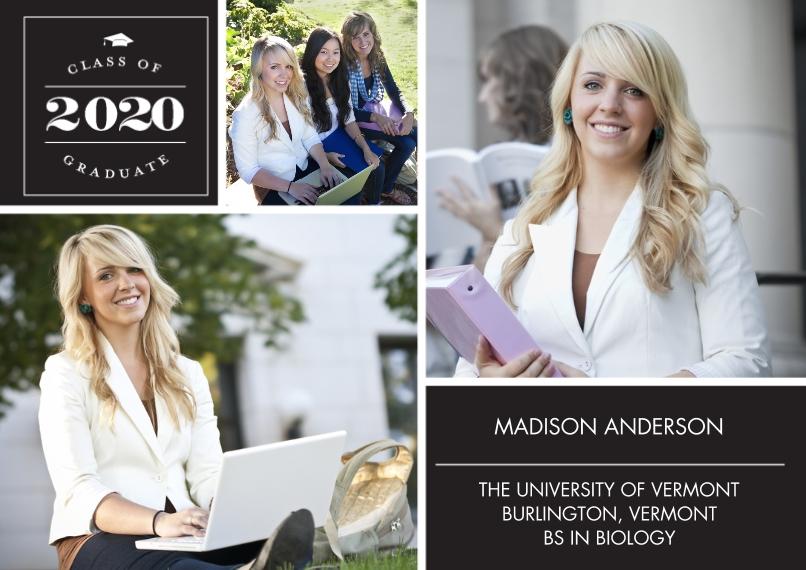 2020 Graduation Announcements 5x7 Cards, Premium Cardstock 120lb, Card & Stationery -Graduate 2020 Classic Memories by Tumbalina
