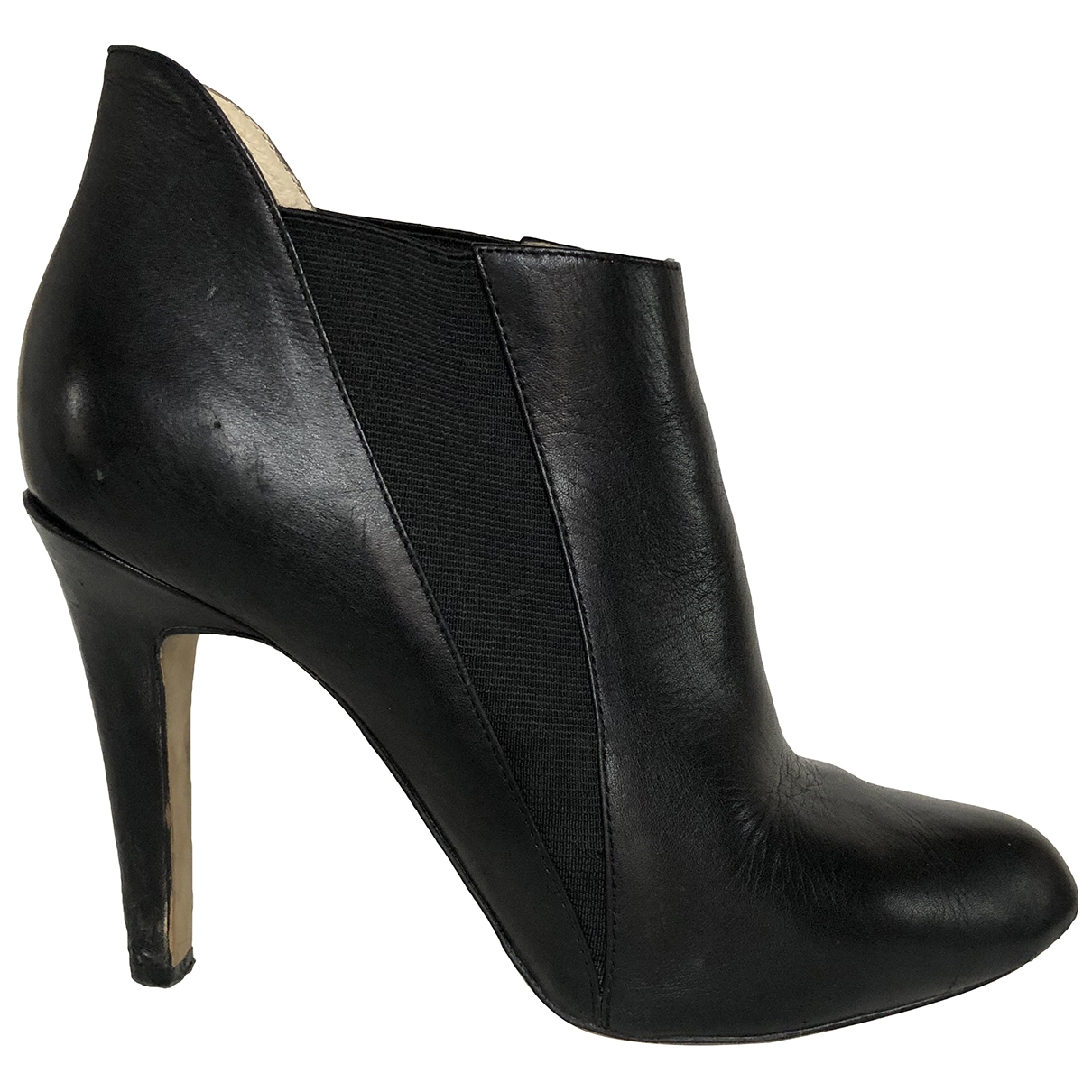 Buffalo \N Black Leather Ankle boots for Women 41 EU
