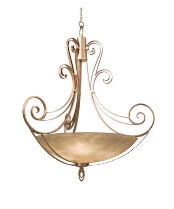Mirabelle 5197CI/BUDDA 58 Pendant in Country Iron with Buddha Leaf Natural Bowl Glass