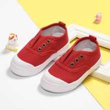 Kleinkind Jungen Slip On Segeltuch Schuhe