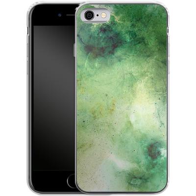 Apple iPhone 6 Silikon Handyhuelle - Abstract Galaxy - Green von Barruf