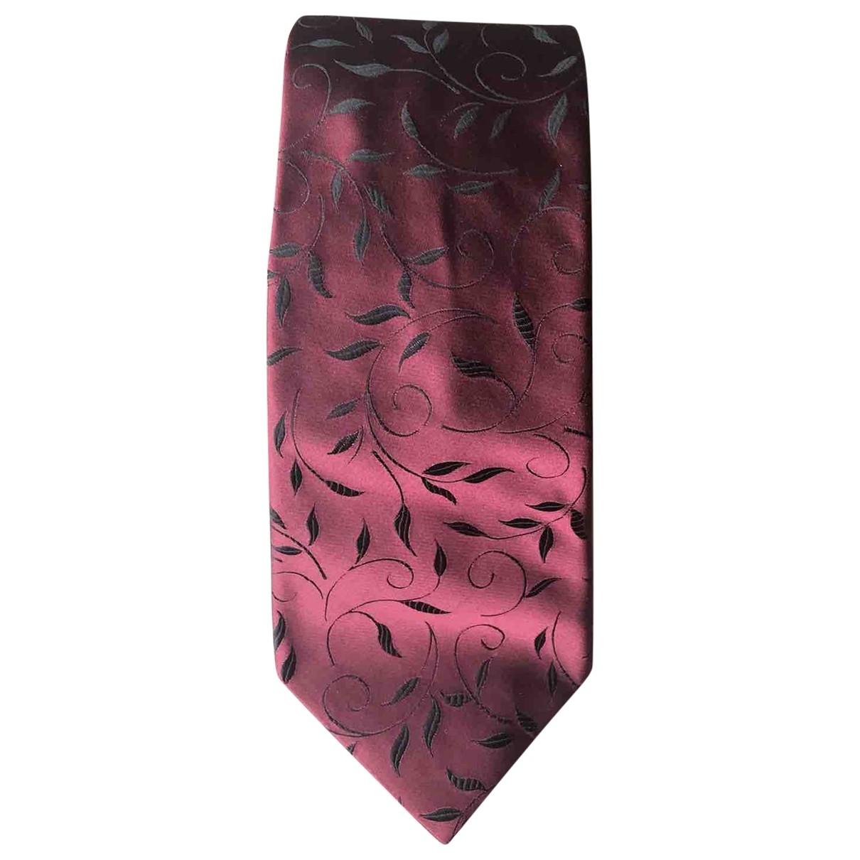 Lanvin - Cravates   pour homme en soie - bordeaux