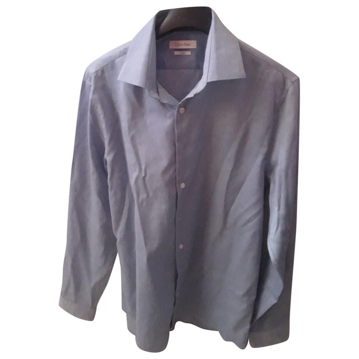 Calvin Klein \N Hemden in  Blau Baumwolle